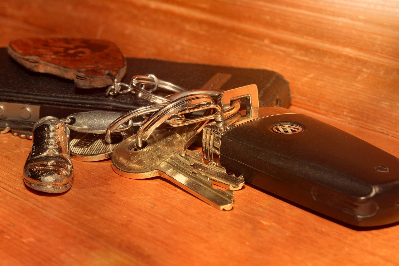 llave de coche con chip